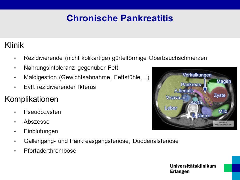 Chronische Pankreatitis