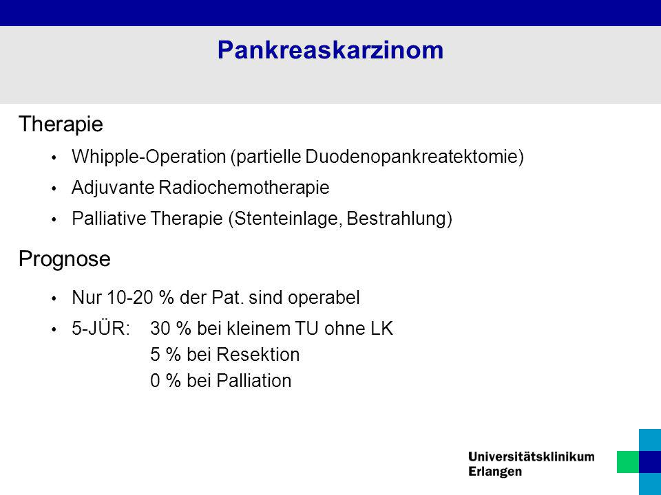 Pankreaskarzinom Therapie Prognose