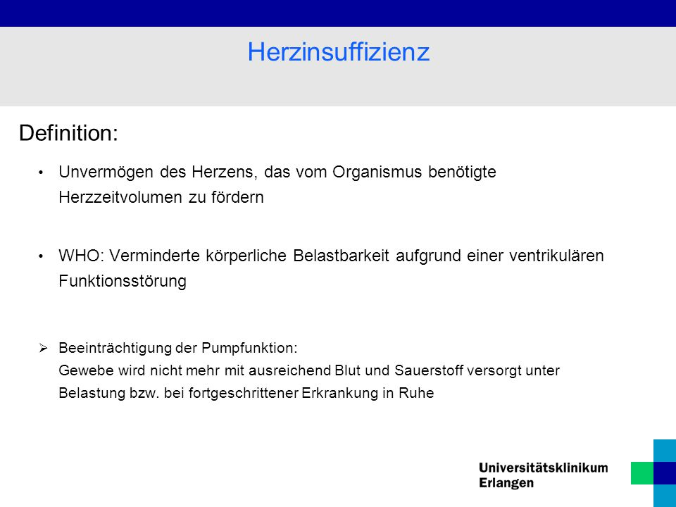 Herzinsuffizienz Definition: