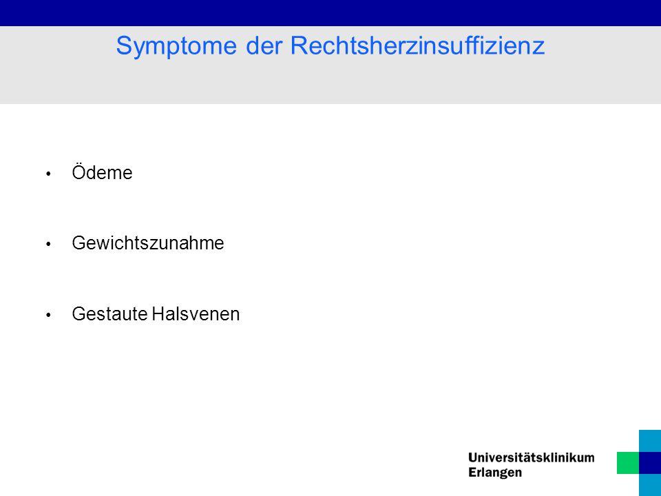 Symptome der Rechtsherzinsuffizienz