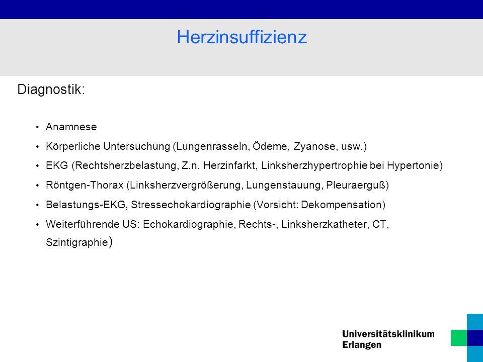 Herzinsuffizienz Diagnostik: Anamnese