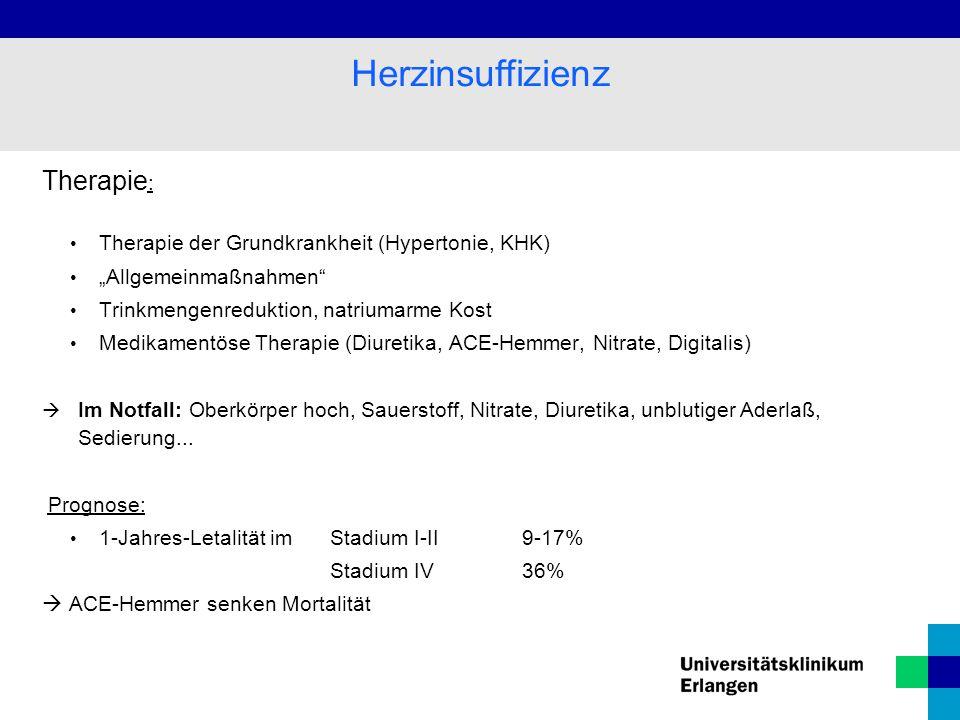 Herzinsuffizienz Therapie: