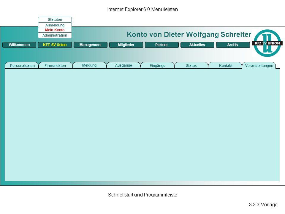 Konto von Dieter Wolfgang Schreiter