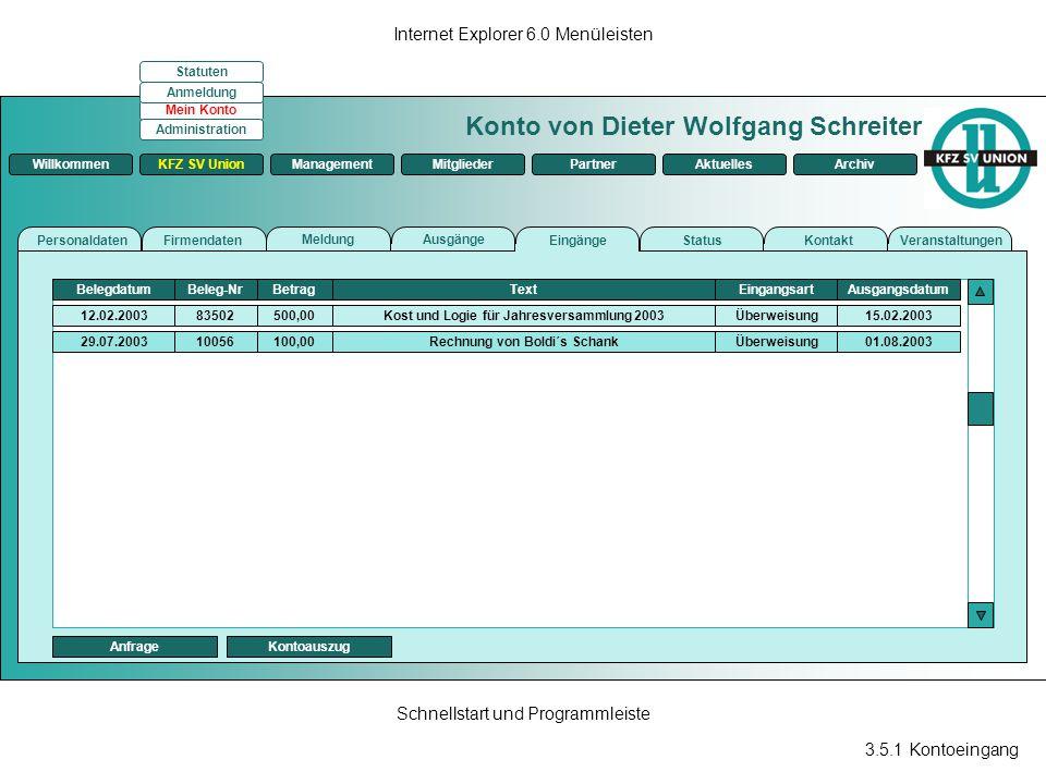 Kost und Logie für Jahresversammlung 2003 Rechnung von Boldi´s Schank