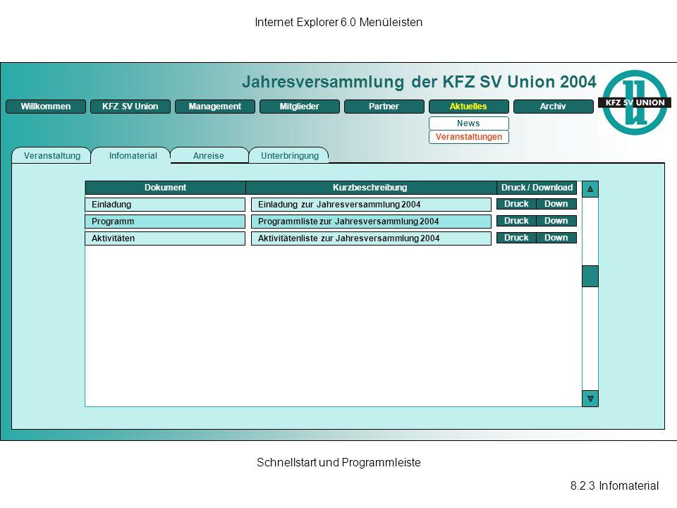 Jahresversammlung der KFZ SV Union 2004
