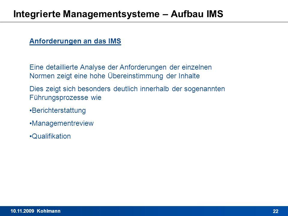 Integrierte Managementsysteme – Aufbau IMS