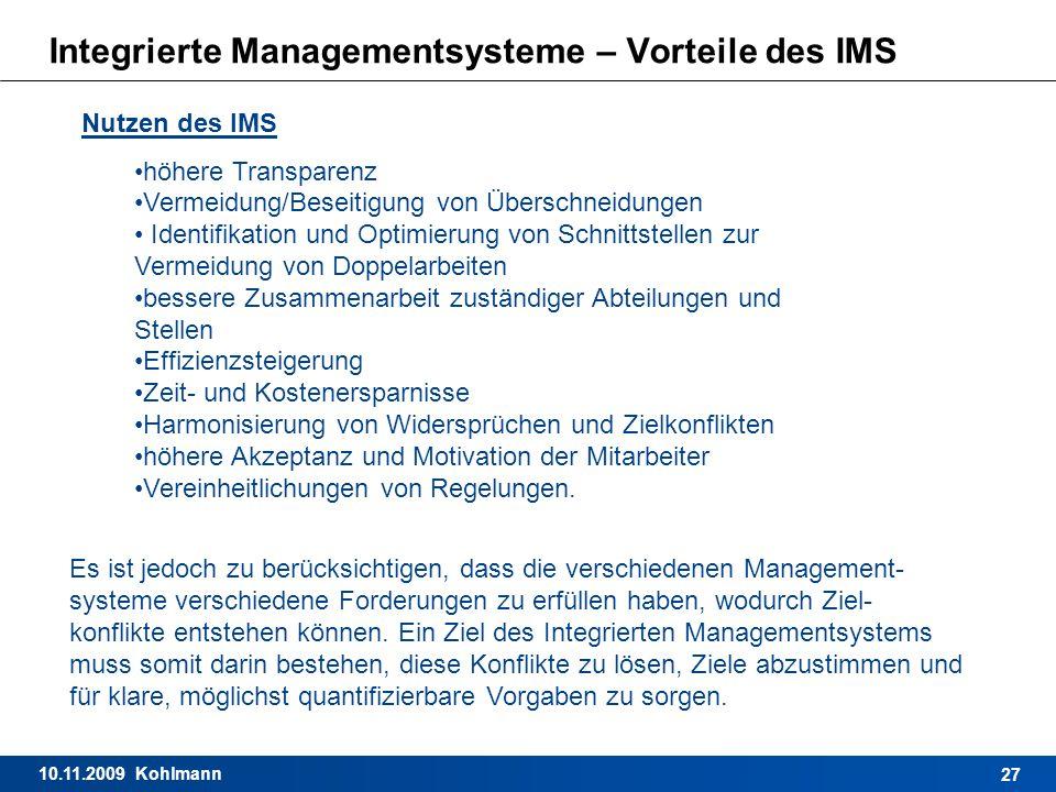 Integrierte Managementsysteme – Vorteile des IMS