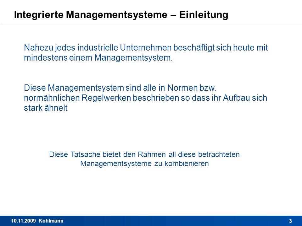 Integrierte Managementsysteme – Einleitung