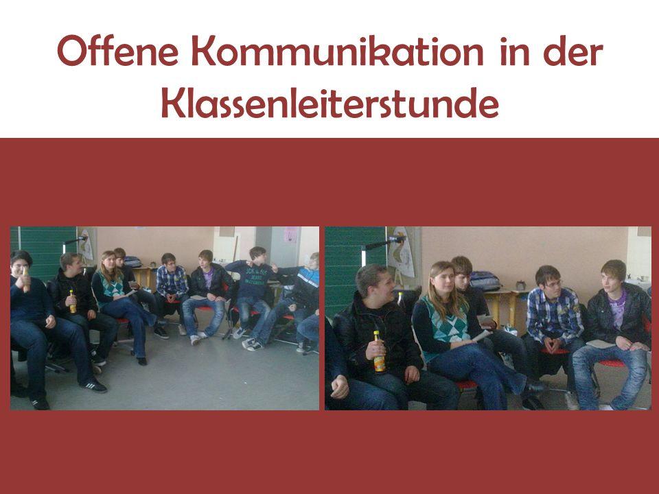 Offene Kommunikation in der Klassenleiterstunde