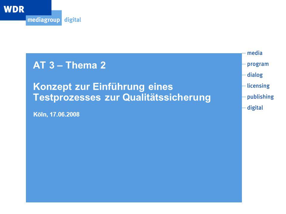 AT 3 – Thema 2 Konzept zur Einführung eines Testprozesses zur Qualitätssicherung