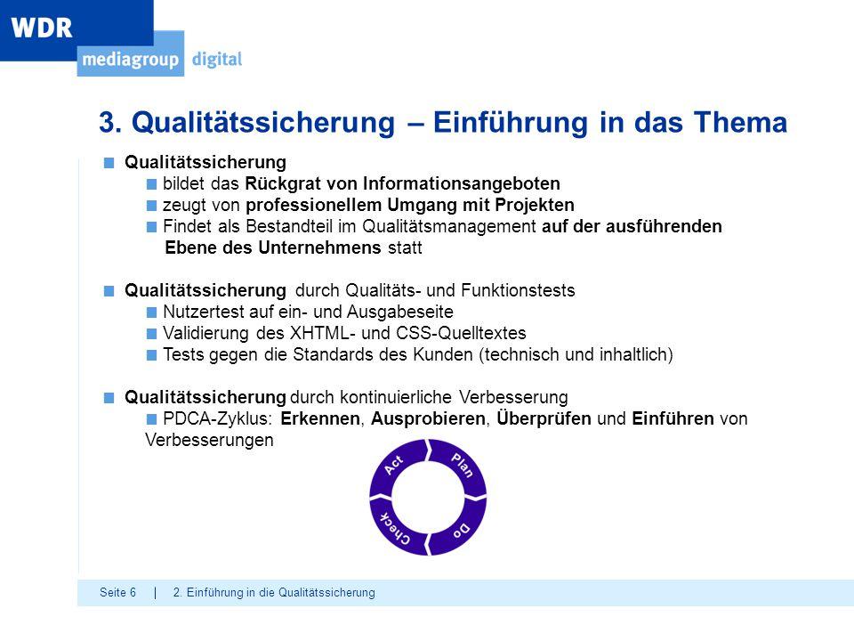 3. Qualitätssicherung – Einführung in das Thema