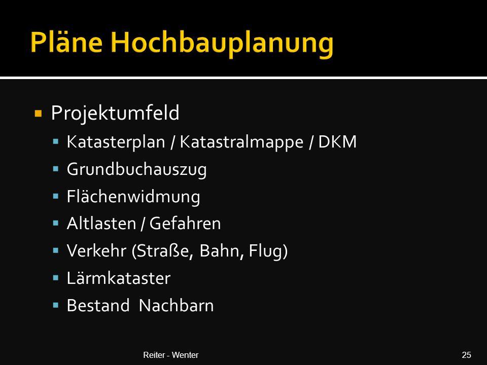 Pläne Hochbauplanung Projektumfeld Katasterplan / Katastralmappe / DKM