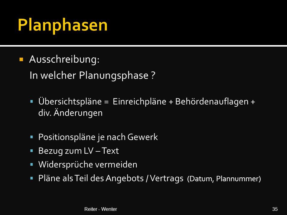 Planphasen Ausschreibung: In welcher Planungsphase
