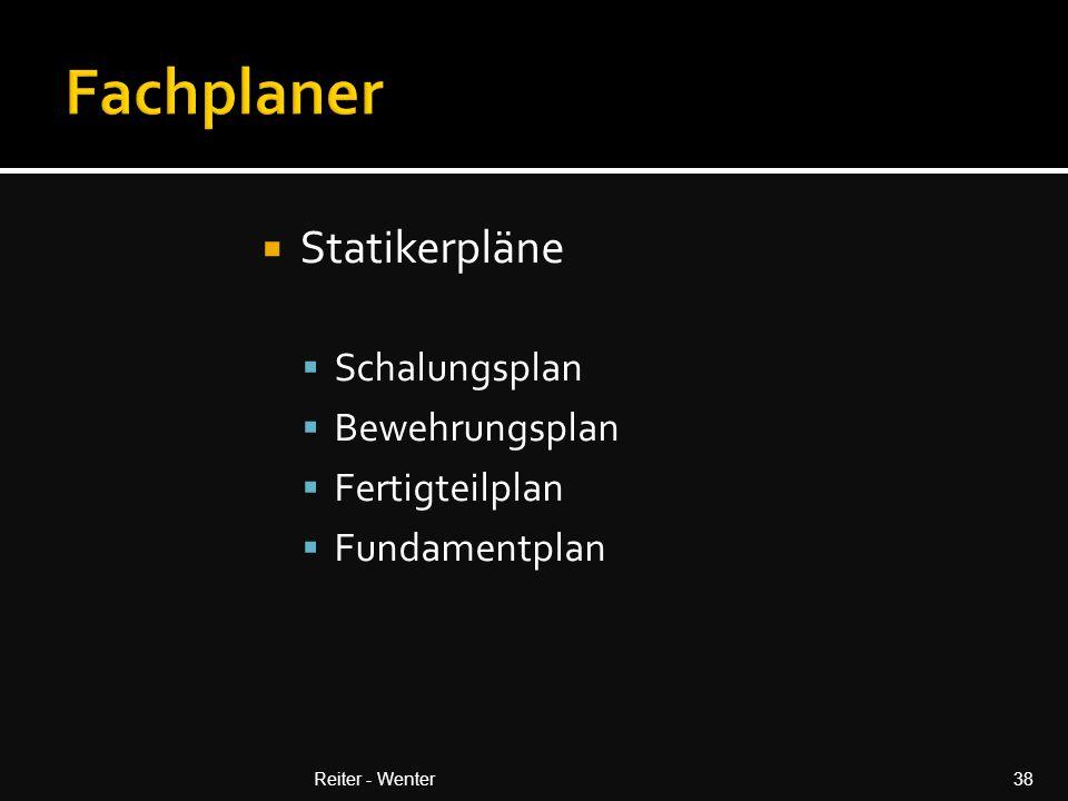 Fachplaner Statikerpläne Schalungsplan Bewehrungsplan Fertigteilplan