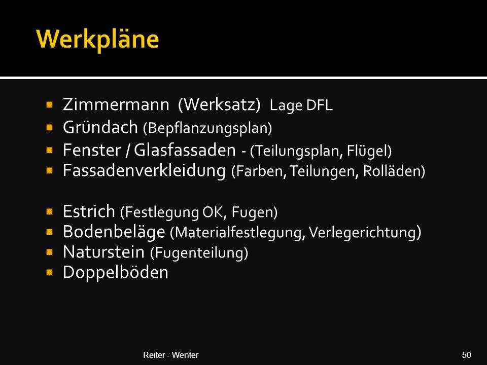 Werkpläne Zimmermann (Werksatz) Lage DFL Gründach (Bepflanzungsplan)