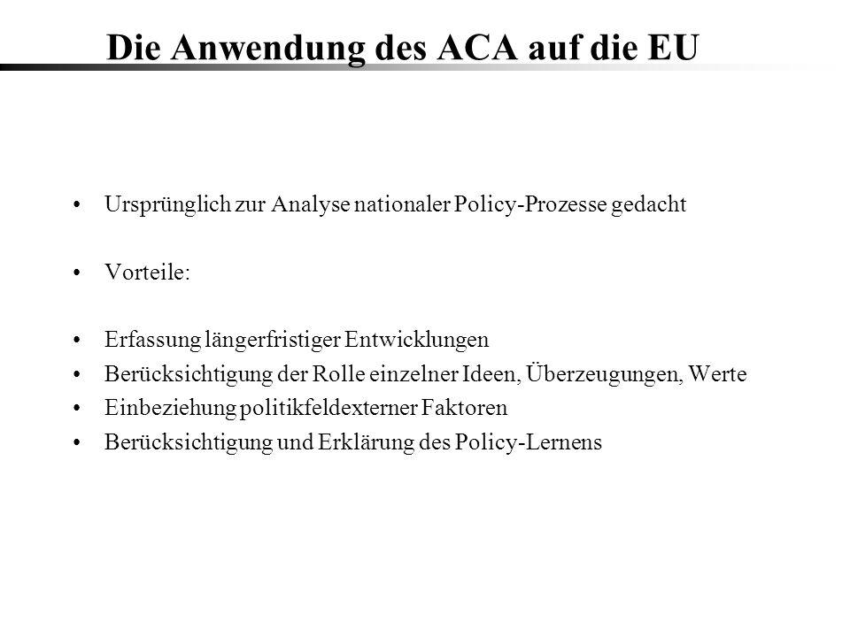 Die Anwendung des ACA auf die EU