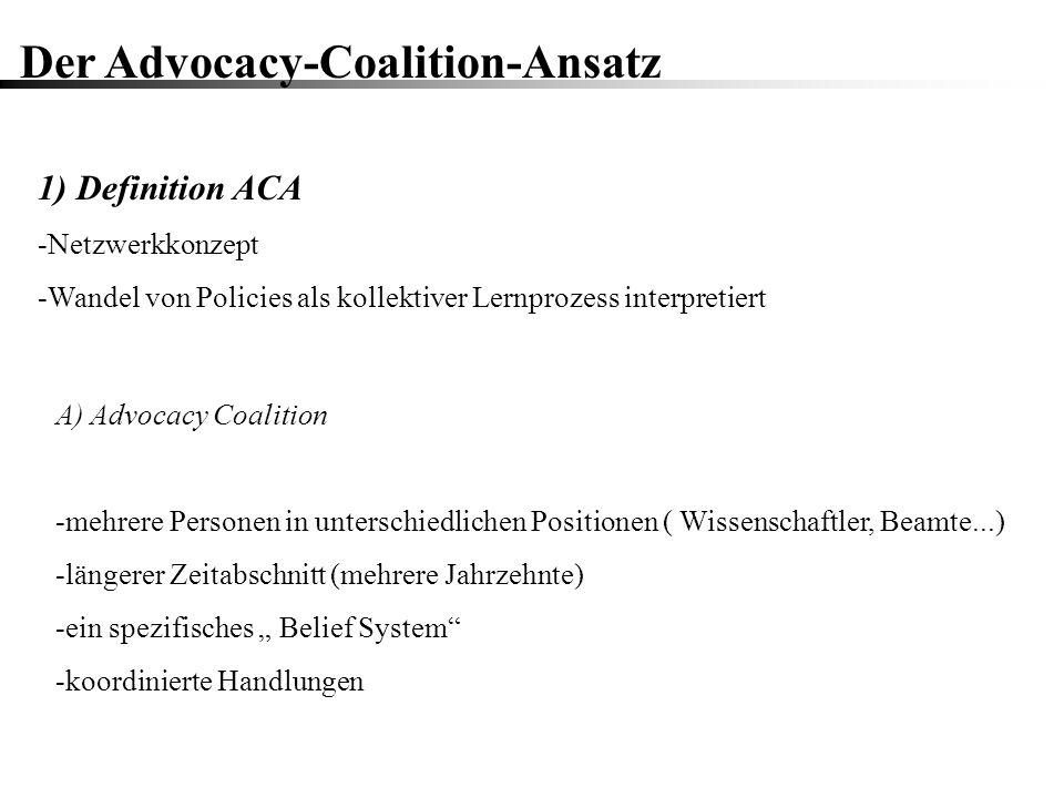 Der Advocacy-Coalition-Ansatz
