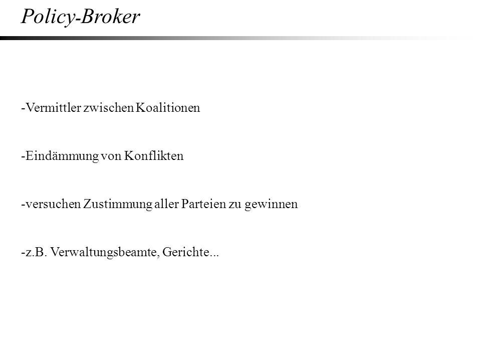 Policy-Broker -Vermittler zwischen Koalitionen