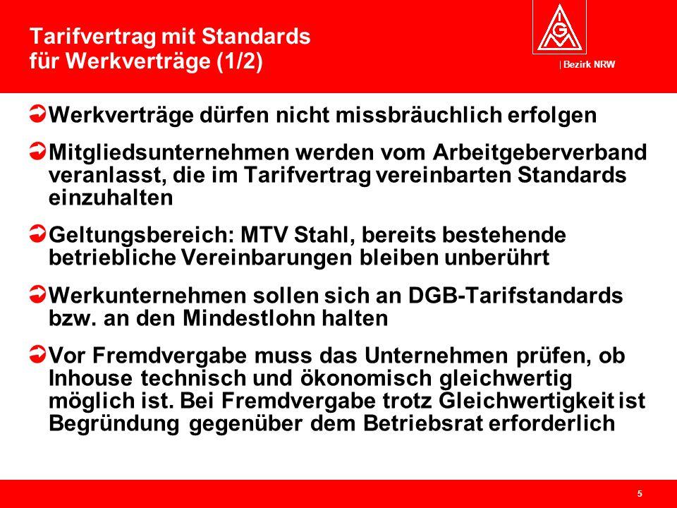 Tarifvertrag mit Standards für Werkverträge (1/2)