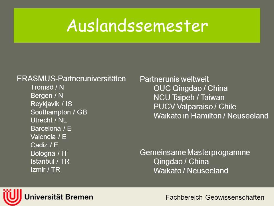 Auslandssemester ERASMUS-Partneruniversitäten Partnerunis weltweit