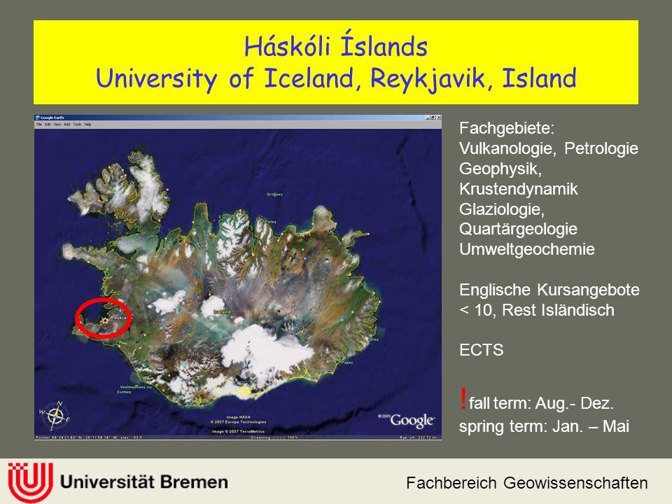 Háskóli Íslands University of Iceland, Reykjavik, Island