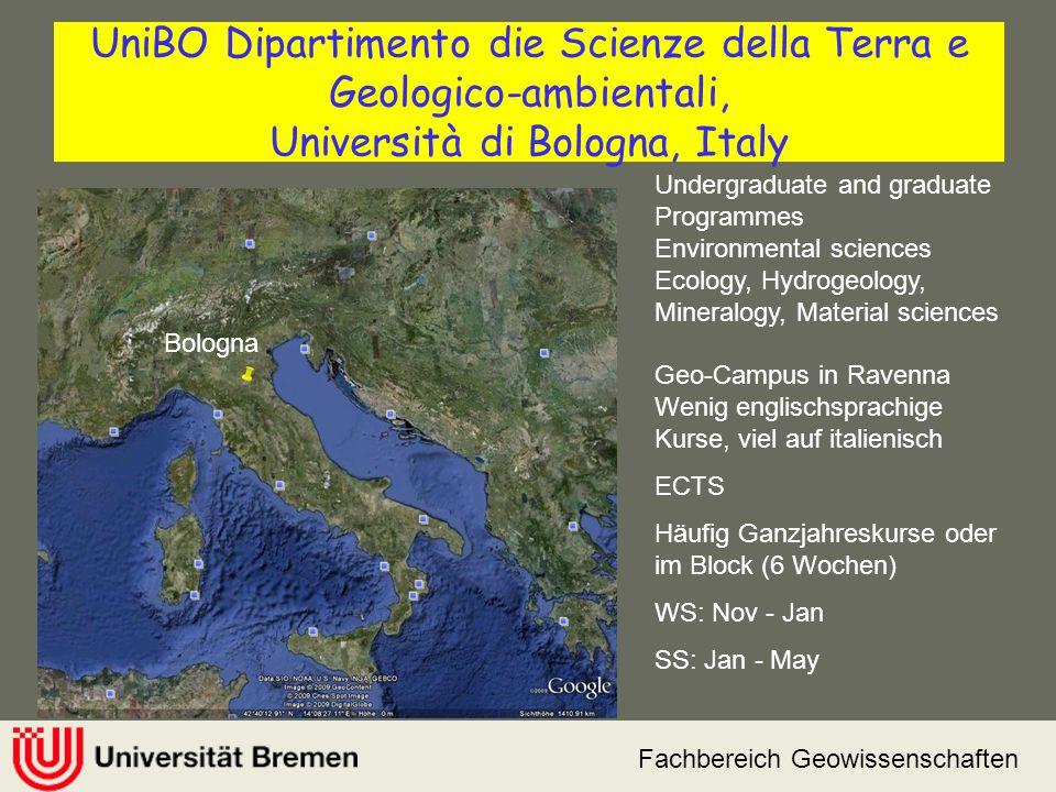 UniBO Dipartimento die Scienze della Terra e Geologico-ambientali, Università di Bologna, Italy