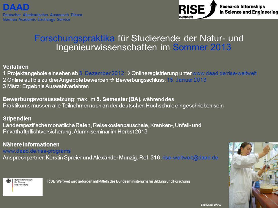DAAD Deutscher Akademischer Austausch Dienst. German Academic Exchange Service.