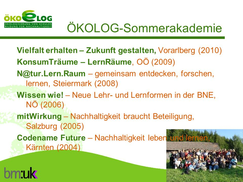 ÖKOLOG-Sommerakademie