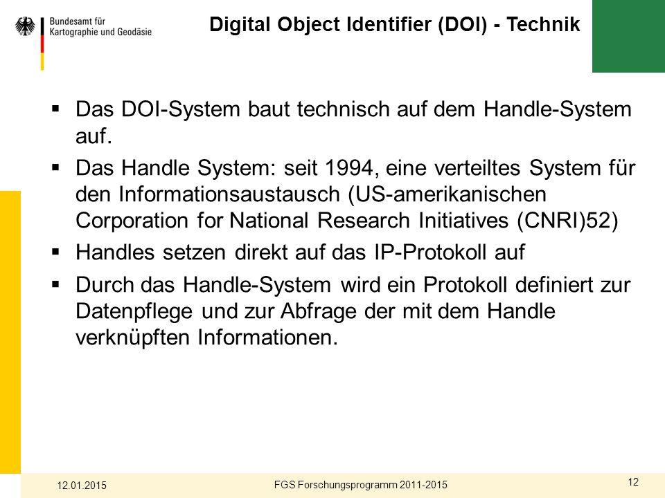 Digital Object Identifier (DOI) - Technik