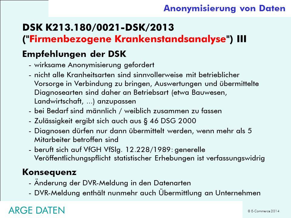 DSK K213.180/0021-DSK/2013 ( Firmenbezogene Krankenstandsanalyse ) III