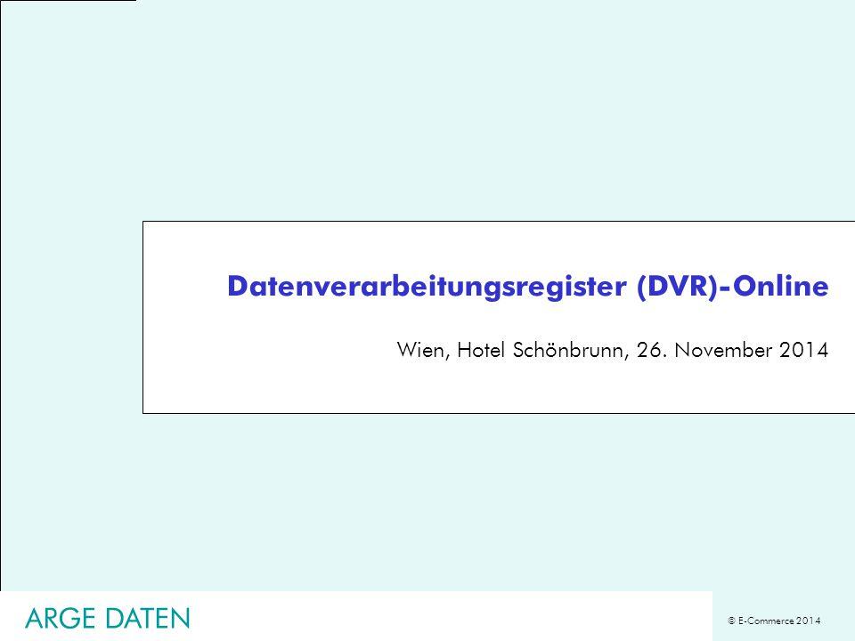 Datenverarbeitungsregister (DVR)-Online