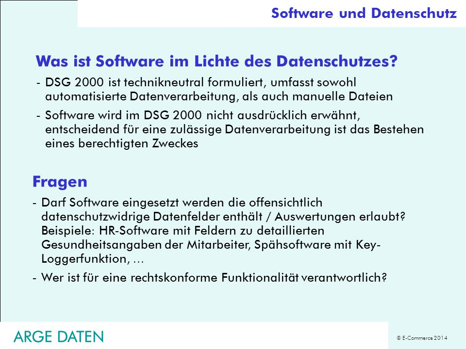 Was ist Software im Lichte des Datenschutzes