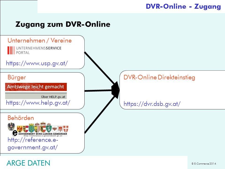 Zugang zum DVR-Online ARGE DATEN DVR-Online - Zugang