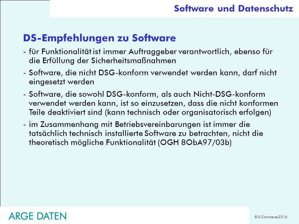 DS-Empfehlungen zu Software