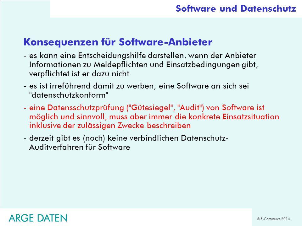 Konsequenzen für Software-Anbieter