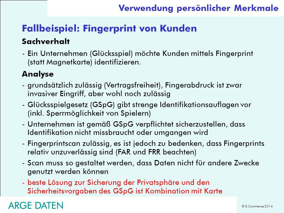 Fallbeispiel: Fingerprint von Kunden
