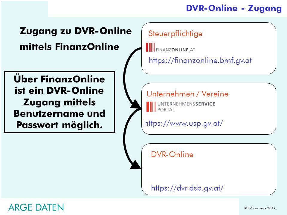 Zugang zu DVR-Online mittels FinanzOnline