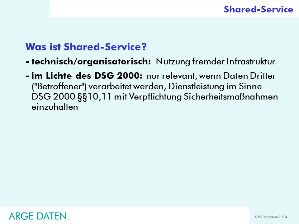 Was ist Shared-Service