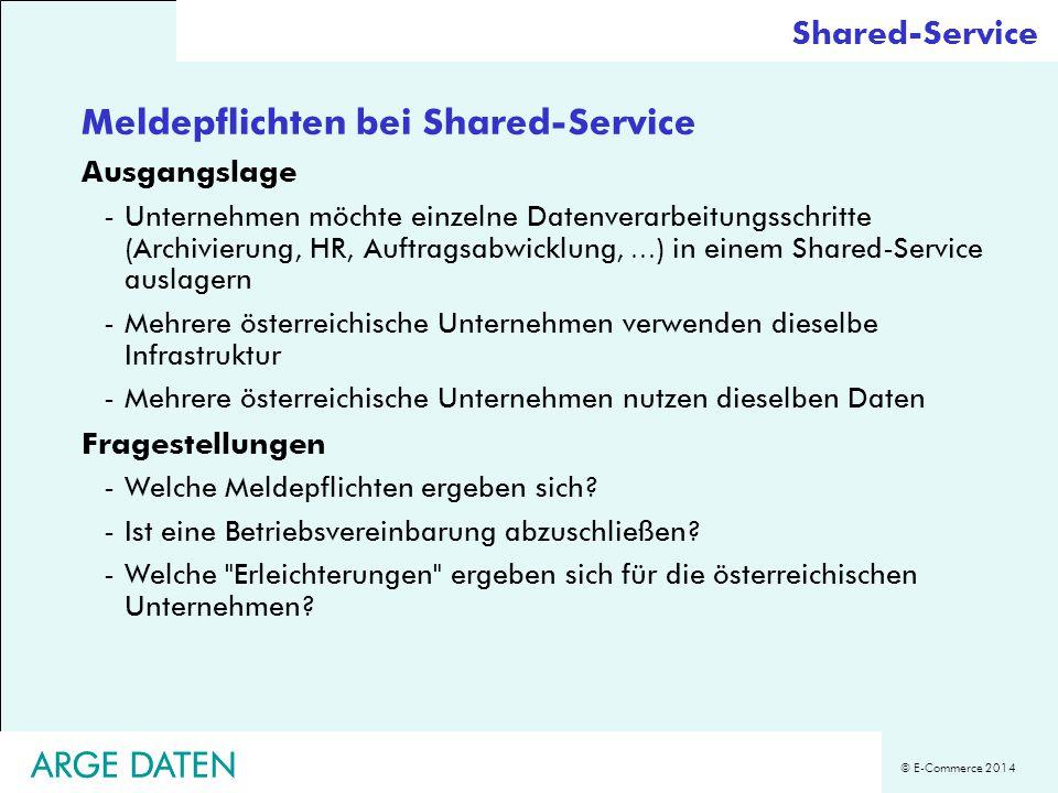 Meldepflichten bei Shared-Service