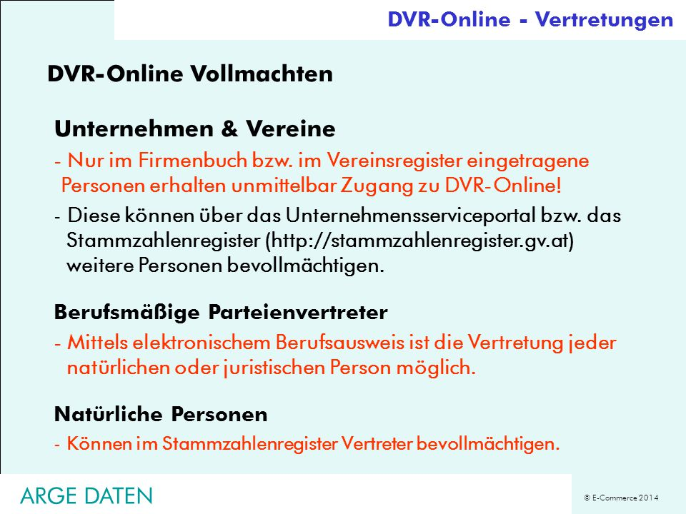 DVR-Online Vollmachten Unternehmen & Vereine