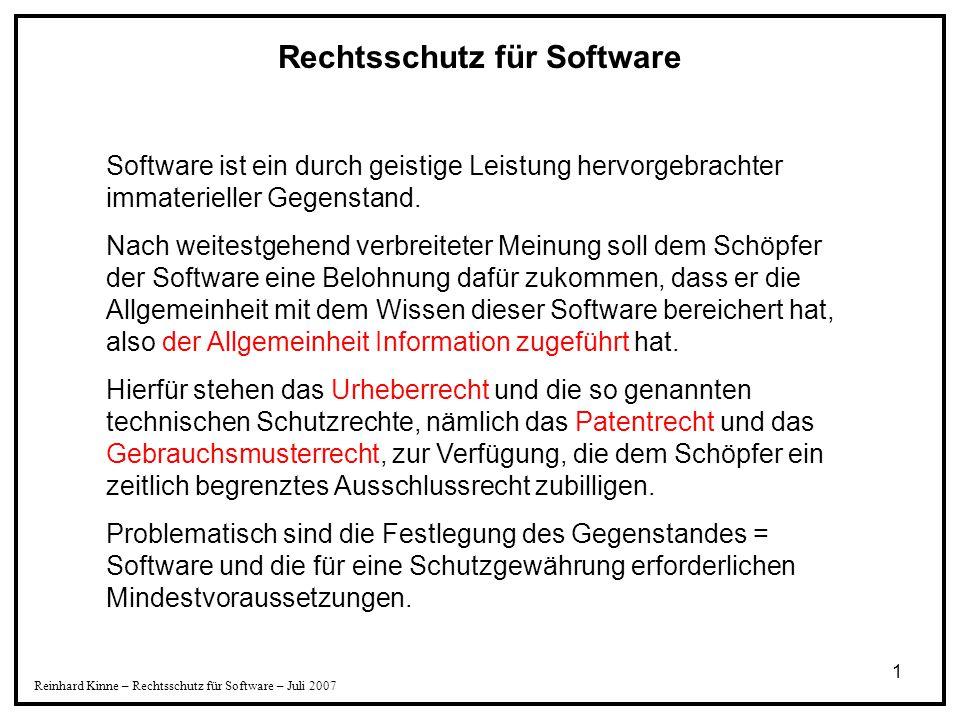 Rechtsschutz für Software