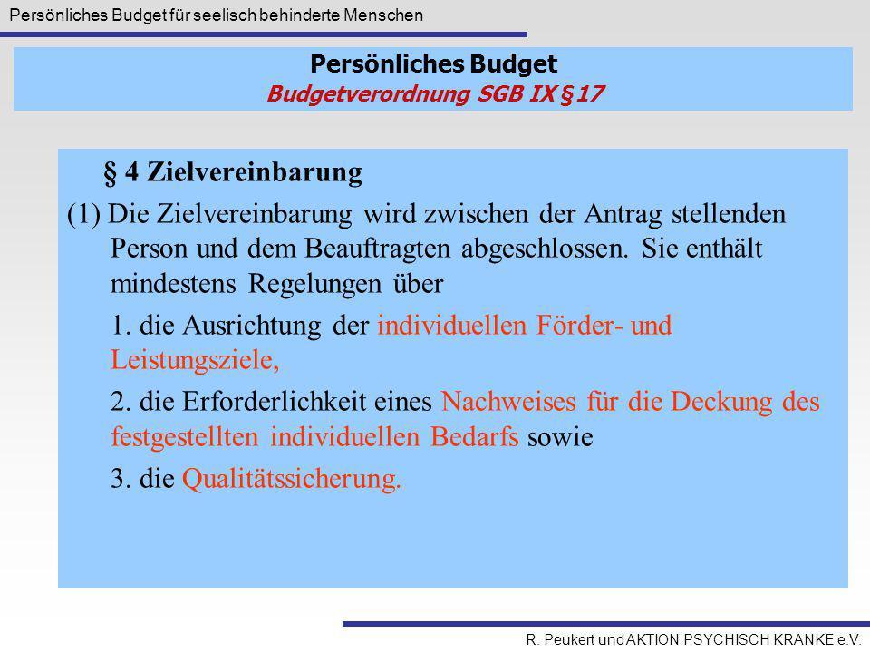 Budgetverordnung SGB IX §17
