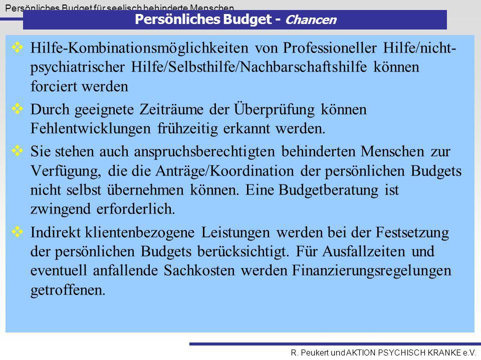 Persönliches Budget - Chancen