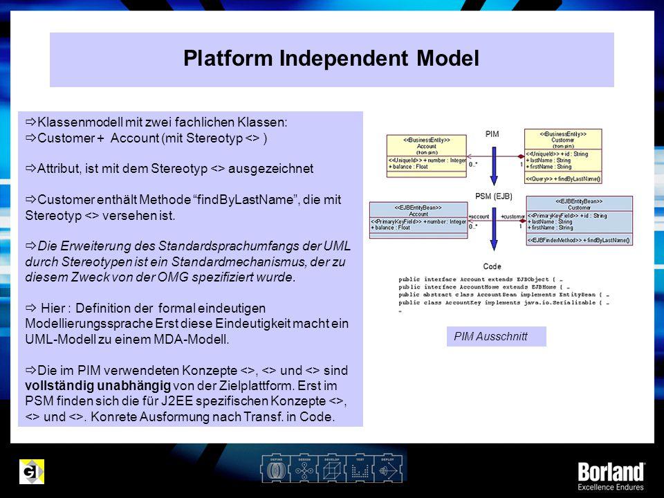 Platform Independent Model