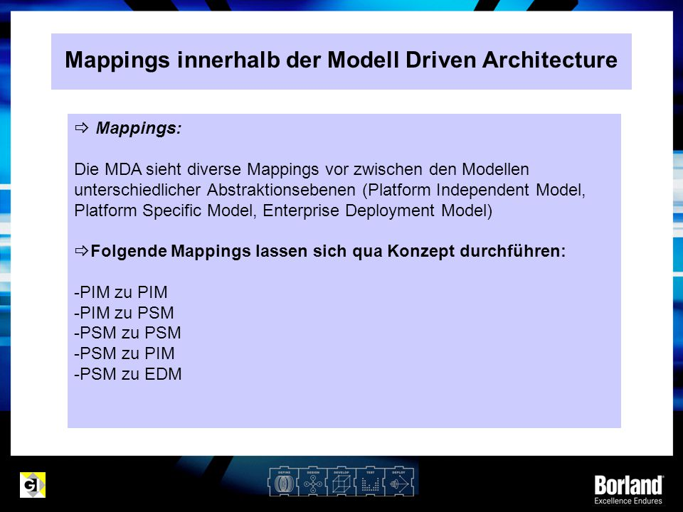 Mappings innerhalb der Modell Driven Architecture