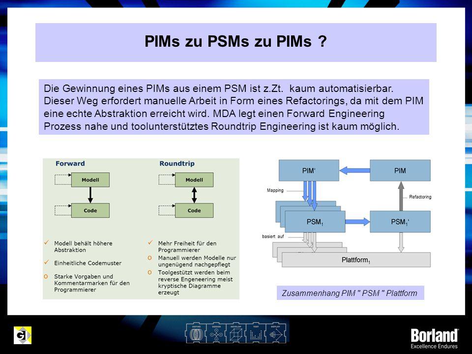 PIMs zu PSMs zu PIMs