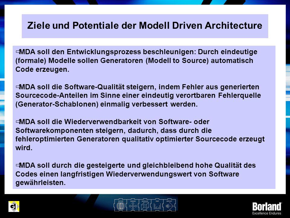 Ziele und Potentiale der Modell Driven Architecture