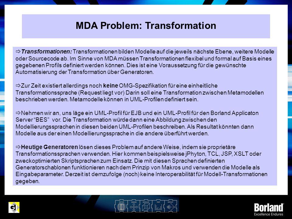 MDA Problem: Transformation