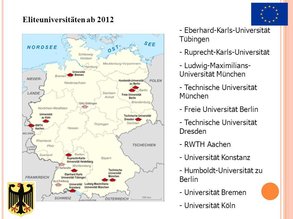 Eliteuniversitäten ab 2012