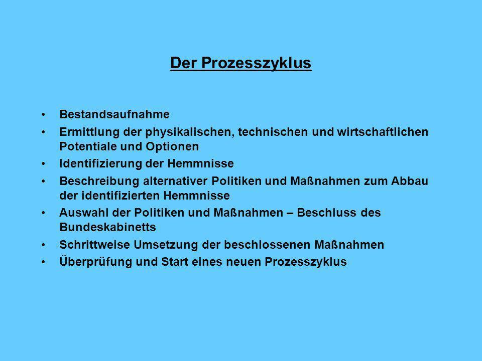 Der Prozesszyklus Bestandsaufnahme